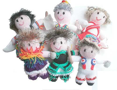 lovely knitted morris dancers