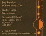 Bob Parslow | guitar tutor