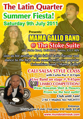 Live Salsa Band Night @ The Stoke Guildford
