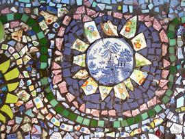 Mosaic Cake Stand