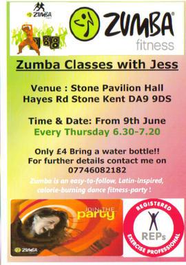 ZUMBA Classes at Stone Pavillion Hall Stone/Dartford KENT !!