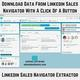 How can I download data from LinkedIn Sales Navigator to Excel?