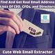 Find, Scrape, And, Get Real Email Lists Of CEOs And CFOs