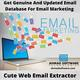 How Do I Get Genuine And Updated Email Database For Email Marketing?